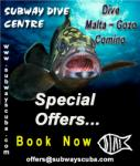 Subway Dive Centre - Malta - Special Offers